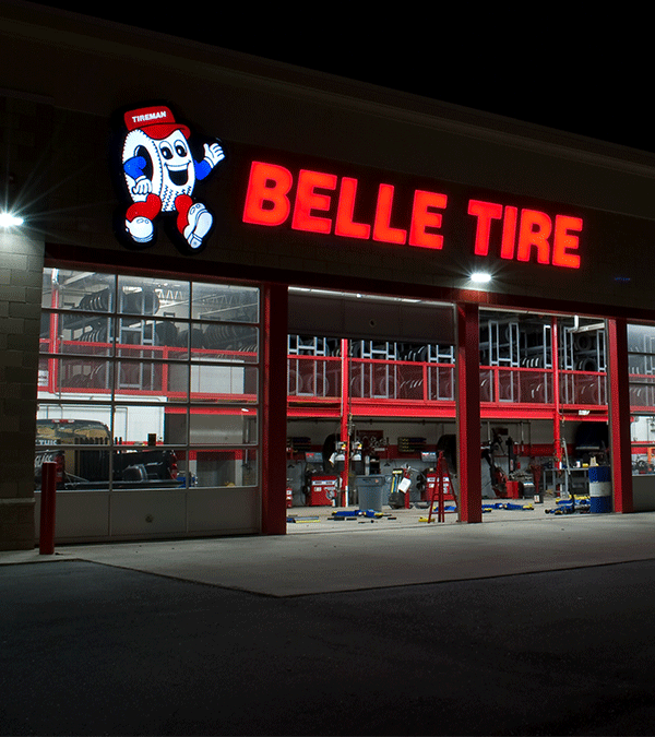 Belle Tire Signage Design and Install